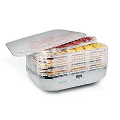 NutriChef Food Dehydrator Machine - Professional Electric Multi-Tier Food Preserver, Meat or Beef Jerky Maker, Fruit & Vegetable Dryer with 6 Stackable Trays, High-Heat Circulation - Kitchen Countertop Storage, Small Kitchen Appliances, Kitchen Gadgets, Kitchen Small, Cooking Gadgets, Kitchen Tools, Beef Jerky Maker, Food Shelf Life, Making Jerky