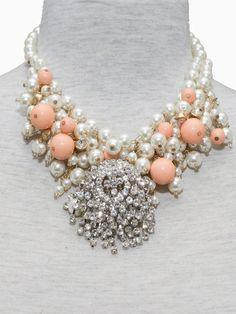 Retro Luxury Diamond Pearl Necklace