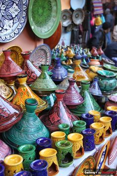 Pottery Market - love the colors