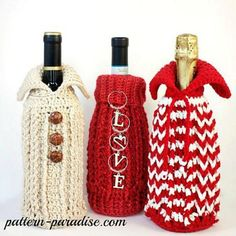 Holiday Bottle Sweater Gift Bag Cozy