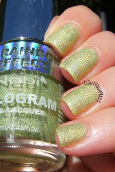 Smalto Nabi Hologram Green nail polish