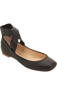 Chloé Criss-Cross Ankle Strap Ballet Flat