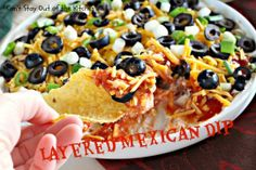 Layered Mexican Dip - Fantastic 5-ingredient recipe that's so quick and easy.