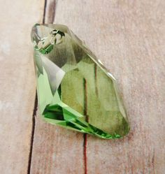 Swarovski Crystal Drop peridot 27x16mm by StoneWingSupplies, $4.00