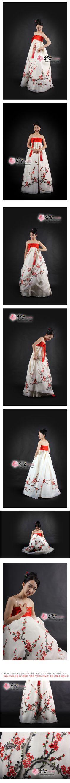 with black jeoguri HANBOK - korean clothes,traditional dress,modern hanbok,korean prom dresses,korean wedding dresses