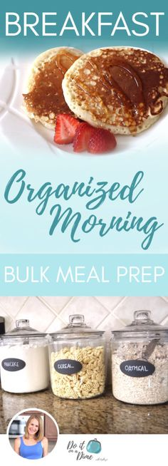 ORGANIZED MORNING | Bulk Meal Breakfast Pancakes, Oatmeal & Storage In this meal planning video, I share EASY bulk breakfast ideas from pancakes/waffle mix to DIY creamy instant oatmeal in your Keurig.