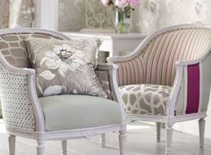 Classical grandeur of the stately home and the formality of its gardens provide the framework for this luxurious collection. A painterly floral expertly printed on silk is complemented by striking geometrics woven from luxurious silk, linen and wool blends. Pared down to the elegance of line and form Dauphine offers variety from large scale designs to small, intricate detailing. Decorative Weaves Designer Fabrics & Wallcoverings, Upholstery Fabrics