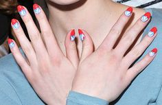 Nail art from the Rachel Antonoff fall 2012 show