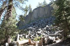 devils postpile, mammoth lake