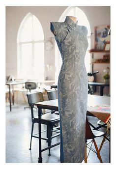 Vintage Chinese Dress Linen Sleeveless Bodycon Cheongsam Qipao ShaLianWai…