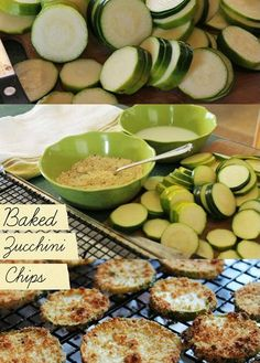 Oven Baked Zucchini Chips pinned with Pinvolve - pinvolve.co
