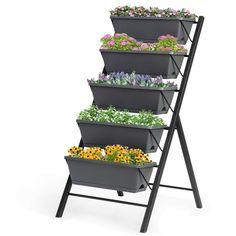 Our vertical garden bed is the best solution for those planters and gardeners to enjoy home planting at any time. This ideal freestanding garden planter occupies only a small space so as to match up with indoor/outdoor furniture perfectly. As for a better cultivation of plants, the drainage system is deigned scientifically and independently. Bottom water storage ensures adequate and stable water supply for your plants. Now, establish your flourishing garden with a variety of vegetable seeds, her Tiered Planter, Vertical Planter, Planter Beds, Garden Planters, Balcony Herb Gardens, Small Herb Gardens, Balcony Planters, Small Balcony Garden, Vertical Gardens