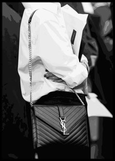 Framed black and white YSL illustration Unique Fashion, Fashion Art, Poster Prints, Framed Prints, Online Posters, Ysl, Monochrome, Black And White, Illustration
