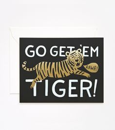 rifle paper co | go get 'em tiger card