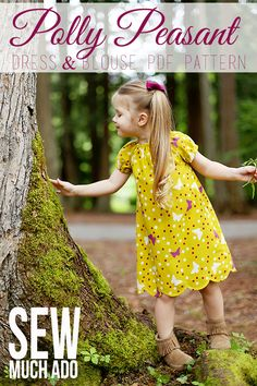 Peasant Dress Pattern - Polly Peasant Dress by Sew Much Ado Toddler Dress, Toddler Outfits, Kids Outfits, Toddler Girls, Baby Girls, Gap Kids, Blouse Pattern Free, Peasant Dress Patterns, Peasant Dresses