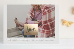 Let Love Rule Foil-Pressed Save the Date Cards by Stacey Meacham at minted.com