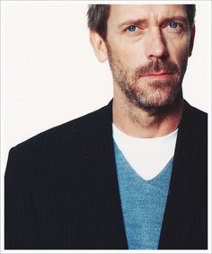 Hugh Laurie with killer blue eyes
