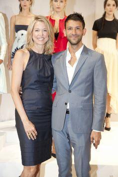 Jounalist Paula Zahn and newscaster Paul Arnhold spotted at Wes Gordon presentation during New York Fashion Week.