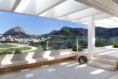 Attractive Brazilian Penthouse With Pool crispy green blue surrounding landscape