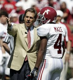 Coach Saban & Marquis Maze