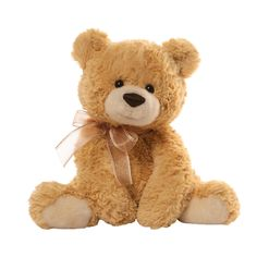 GUND is proud to introduce Reupert, he is a super soft tan bear with a unique, super soft high pile plush material. Features a matching fabric bow and contract colour imitation suede paw pads. This product is suitable from age 1 year +, hand washable and CE marked. #Gund #Bear #Sweet