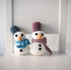 Patrón de muñeco de nieve (gratis) - Free snow man crochet pattern