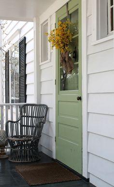door color and black shutters