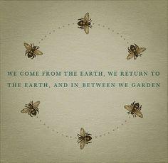 In between we garden....