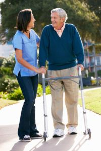 Some elderly loved ones resist the idea of a walker because they fear that it makes them seem older than they are or infirm somehow. The truth is that a walker can help your loved one to use less energy when walking so that she's not as tired at the end of the day.