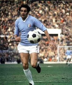 Giorgio Chinaglia ( 24 January 1947 – 1 April 2012) was an Italian footballer who played as a striker. He grew up and played his early football in Cardiff, Wales, and began his career with Swansea Town in 1964. He later returned to Italy to play for Massese, Internapoli and S.S. Lazio in 1969. Chinaglia led Lazio to the club's first league championship in the 1973–74 season, during which he was also the league's leading scorer.