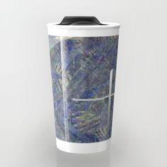 Travel Mug with printing a work of Francoise Zia.Tasse de voyage avec en impression une oeuvre de françoise Zia