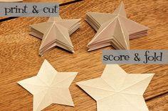paper star chandelier