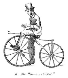 Vintage Clip Art - Man on Early Bicycle - Steampunk - The Graphics Fairy
