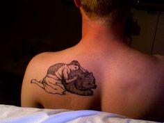 bear tattoo...I just love this.