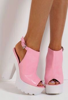 31f96ecec095 Candyfloss Pink Slingback Tractor Sole Platform Shoes