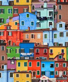 0913b9d947 Painted houses wallpaper, Burano, Venice, Italy Wallpaper Direct, City  Wallpaper, Modern