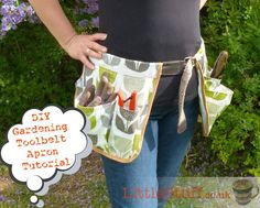 Absolutely simple, easy-to-follow Garden Tool Belt Apron Tutorial for not-very-good-at-sewing sewers.
