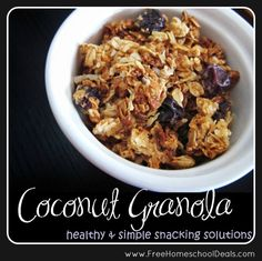 My solution for healthy and simple snacking? Homemade Coconut Granola!