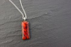 Handmade Glass Pendant Autumn Fall Brown and by GlassJewelleryByJ