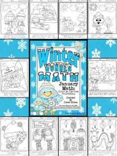 NEWLY EXPANDED TO 10 PUZZLES! Winter Wonder Math ~ January Math Printables Color By The Code: To Practice Basic Addition and Subtraction Math Facts- Winter and Chinese New Year Themes. This Unit Is Aligned To The CCSS. Each Page Has The Specific CCSS Listed. It also includes 10 answer keys for the 10 puzzles. $