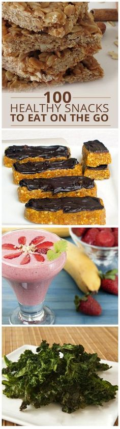 Chances are you are living a busy lifestyle so we have brought you 100 Healthy Snacks to Eat On the Go!