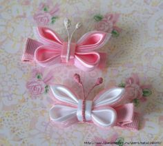 Kanzashi butterfly, with little idea iternete. Talk to LiveInternet - Russian Service Online Diaries