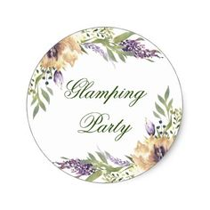 #BohoChic #RusticBoho Anemone Greenery Garden Floral Boho Glamping Party Classic Round Sticker #eharmony