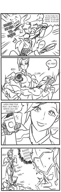 "kevin52495: ""Mercy's counter against Genji Comic by 턱수염. Translated by me """