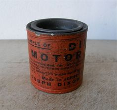 DIXON'S MOTOR GRAPHITE for Lubricating Cylinders of Gas Engines Improved Compression Increases Power Nice Graphics Jersey City New Jersey by OnceUpnTym on Etsy