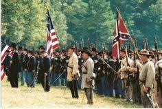 Civil War re-enactment of the Battle of Dalton Georgia, 1864