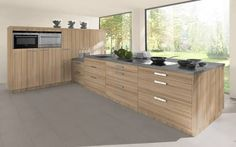 Image result for wood grain laminate kitchen cabinets