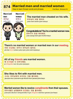 Easy to Learn Korean 874 - Married Men and Married Women Chad Meyer and Moon-Jung Kim EasytoLearnKorean.com