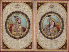 Shah Jahan Mumtaz Mahal Handmade Mughal Miniature Painting Moghul Empire Art