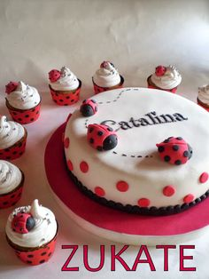 Torta Baby Shower, Lady Bug, Bug Cake, Baby Girl Cakes, Ladybug Party, Daughter Birthday, Cakes And More, Party Cakes, Cake Designs